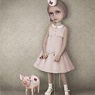Sofia and Little Pig by Larissa Kulik