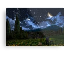 Vincent and The Night Metal Print