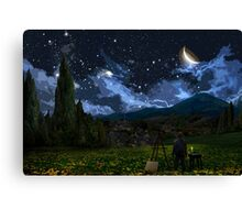 Vincent and The Night Canvas Print