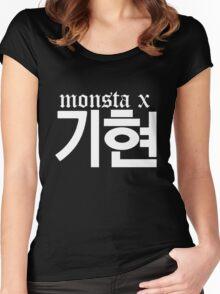 Monsta X Kihyun Name/Logo 2 Women's Fitted Scoop T-Shirt