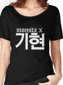 Monsta X Kihyun Name/Logo 2 Women's Relaxed Fit T-Shirt