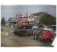 Lincolnshire Poacher & Peterborough Beer Festival IV Lifeboats - Skegness Poster