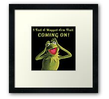 I Feel a Muppet Arm Flail Coming On! Framed Print