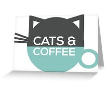 Cats and Coffee Greeting Card