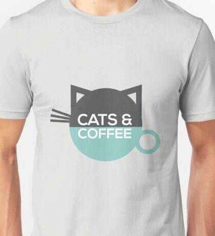 Cats and Coffee Unisex T-Shirt