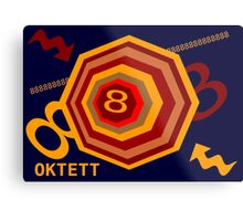 Octet or 8 Bit Metal Print