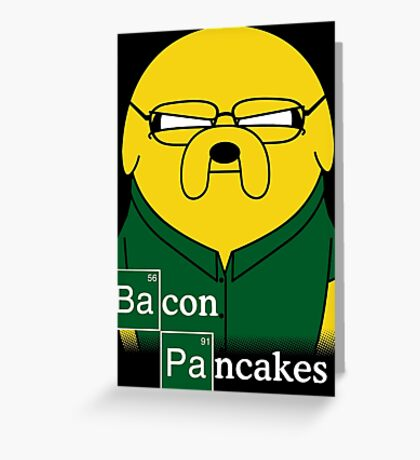 Bacon Pancakes Greeting Card