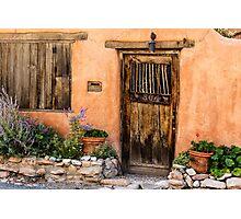 Santa Fe Door Photographic Print