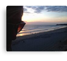 Pacific Beach Sunset Canvas Print