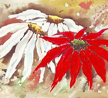 Painted daisies by Maree  Clarkson