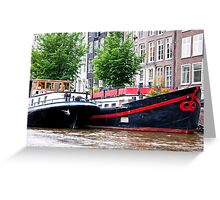 Amsterdam Houseboats Greeting Card