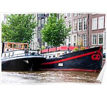 Amsterdam Houseboats Poster