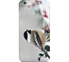 Winter Chickadee iPhone Case/Skin