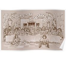 The Rock n' Roll Last Supper by Sheik Poster