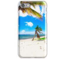 Palm Trees on Breakers Beach iPhone Case/Skin