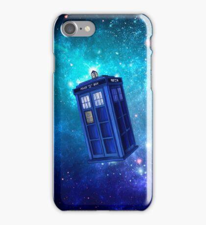 Tardis Blue Space Nebula iPhone Case/Skin