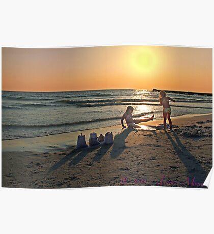 Sunset girls Poster