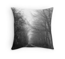 Herefordshire - Frozen Road (1) Throw Pillow