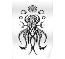 Octogram BW Poster