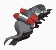 Aqua-phobic Otter by Debbie Jew