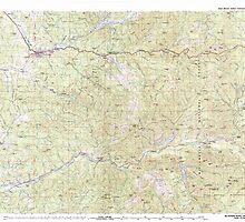 USGS Topo Map Oregon Mc Kenzie River 283102 1983 100000 by wetdryvac