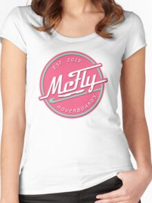 McFly Hoverboards Women's Fitted Scoop T-Shirt