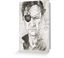 Walking Dead The Governor by Sheik Greeting Card