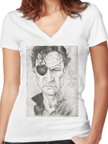 Walking Dead The Governor by Sheik Women's Fitted V-Neck T-Shirt