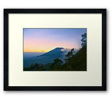 Mt. Merbabu at Dusk Framed Print
