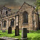 St Leonard's Church at Downham Village, Lancs by Sandra Cockayne