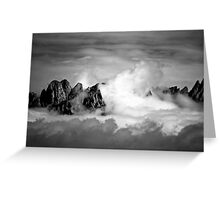 Clouds On The Mountains b&w Greeting Card