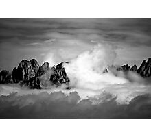 Clouds On The Mountains b&w Photographic Print