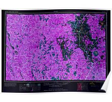 USGS Topo Map California Weed 302184 1958 250000 Inverted Poster