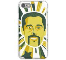 Mustachioed Aaron Rodgers iPhone Case/Skin
