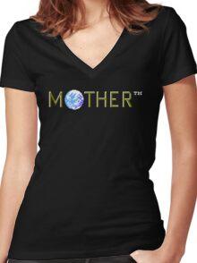 MOTHER Logo (EarthBound Beginnings)  Women's Fitted V-Neck T-Shirt