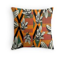 Kente Floral Throw Pillow