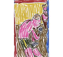 Drawing: Francis Bacon Archive I (2010) (Boxing) Photographic Print