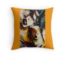 Koala girls Throw Pillow