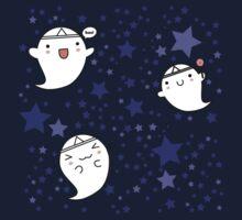 Kawaii Cute Halloween Ghosts One Piece - Short Sleeve