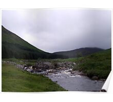 Mountain stream in the Scottish Highlands Poster