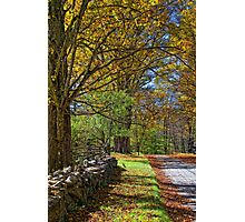 Fall Country Road Photographic Print