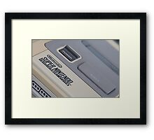 Super Nintendo (SNES) Framed Print