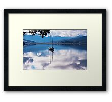 Huon River Clouds and Reflections Framed Print