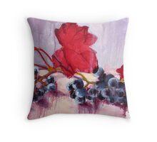 Blue Grape Throw Pillow