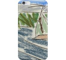 Drawing: View from Nielsen Park (Sydney Harbour) IV (2015) iPhone Case/Skin