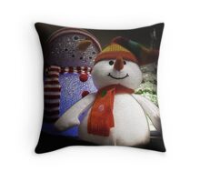 The Snowmen Throw Pillow