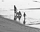 A Walk On The Beach by Scott Johnson