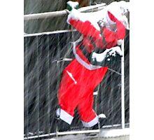 Climbing for Christmas Photographic Print