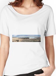 Beach Panoramic. Women's Relaxed Fit T-Shirt
