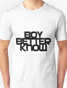 Boy Better Know - Black Logo, Middle Placement T-Shirt